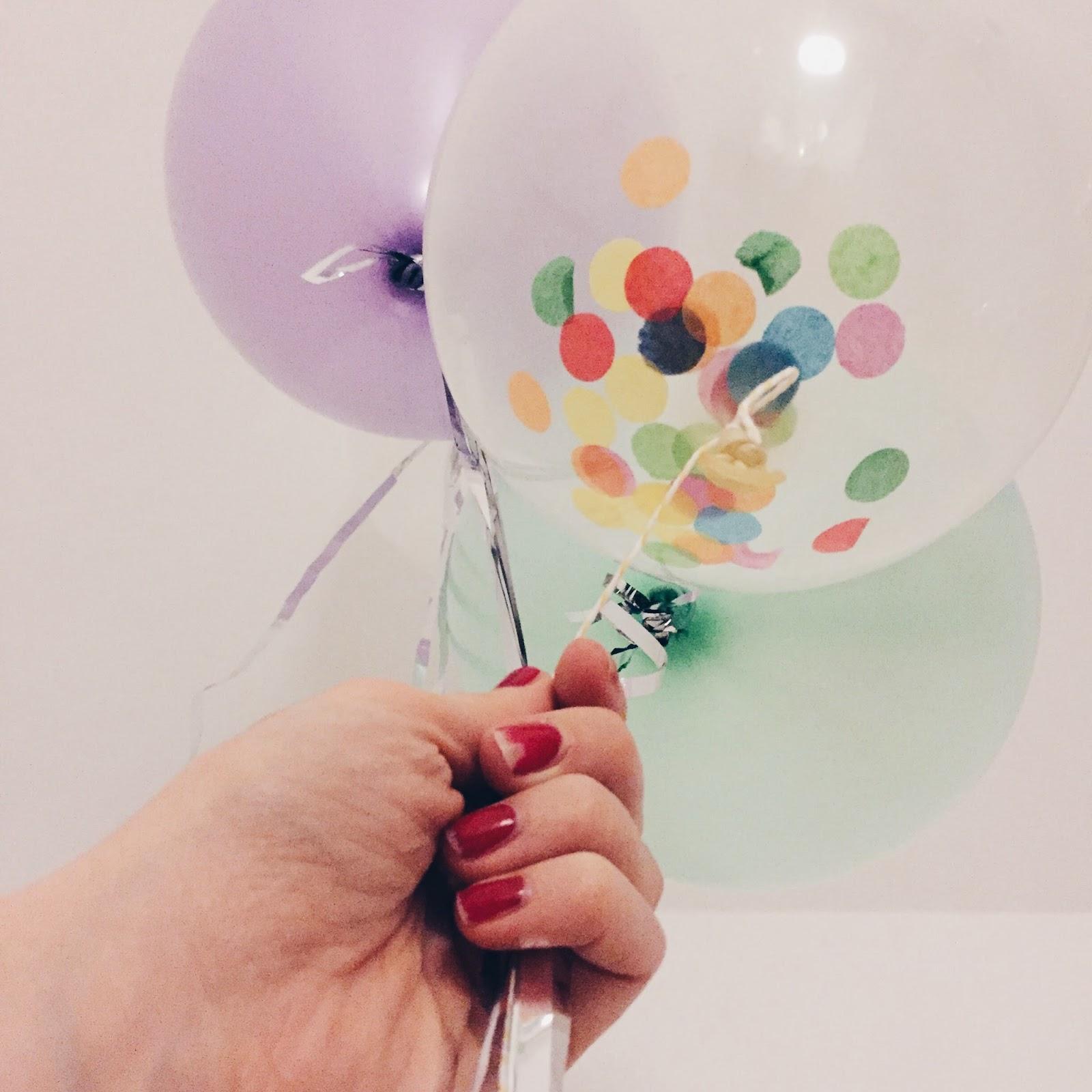 ballons confetti decoration
