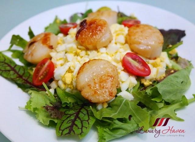valentines day parmesan cheese hokkaido scallops salad recipe