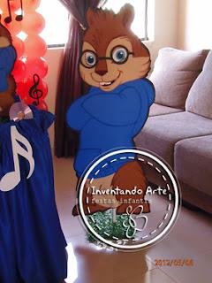 festa decoração Alvin e os esquilos