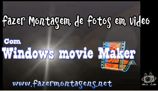 Montagem de fotos em video