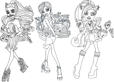 Monster High Scaremester Coloring Sheet