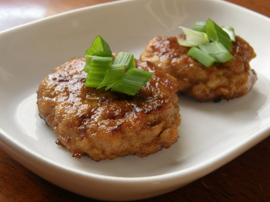 The cookbook junkie my ground chicken recipes chicken cakes with teriyaki sauce forumfinder Images