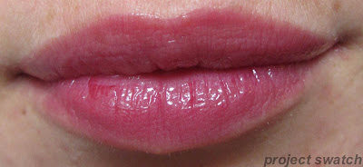 191 Stubborn Plum shine caresse lip swatch