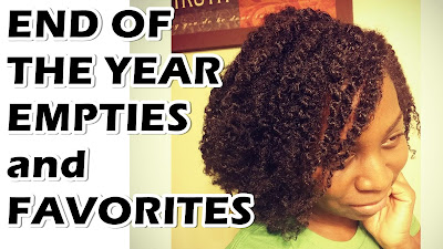 End of Year Natural Hair Products Empties and Favorites