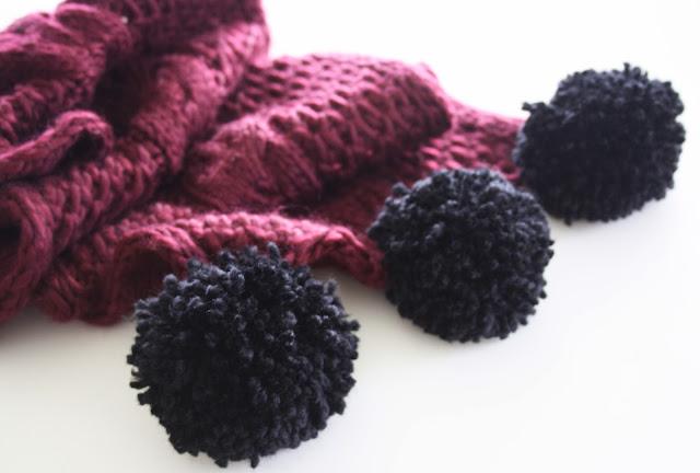 how to make a pom pom scarf