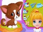 Barbie curando a su mascota