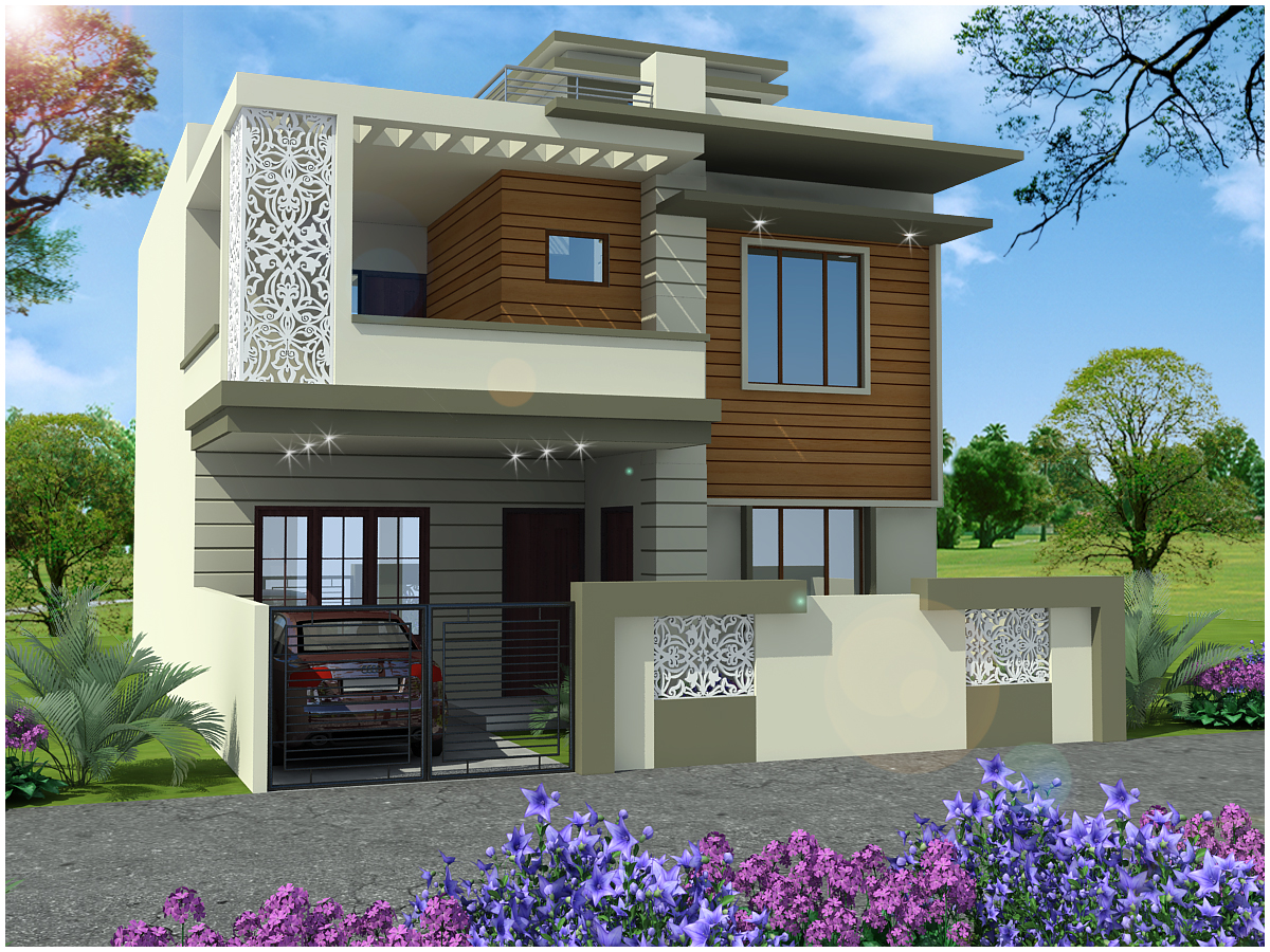 Ghar planner leading house plan and house design for Indian small house designs photos