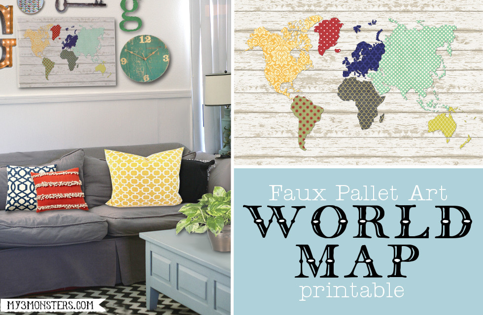 Faux Pallert Art World Map Printable at my3monsters.com