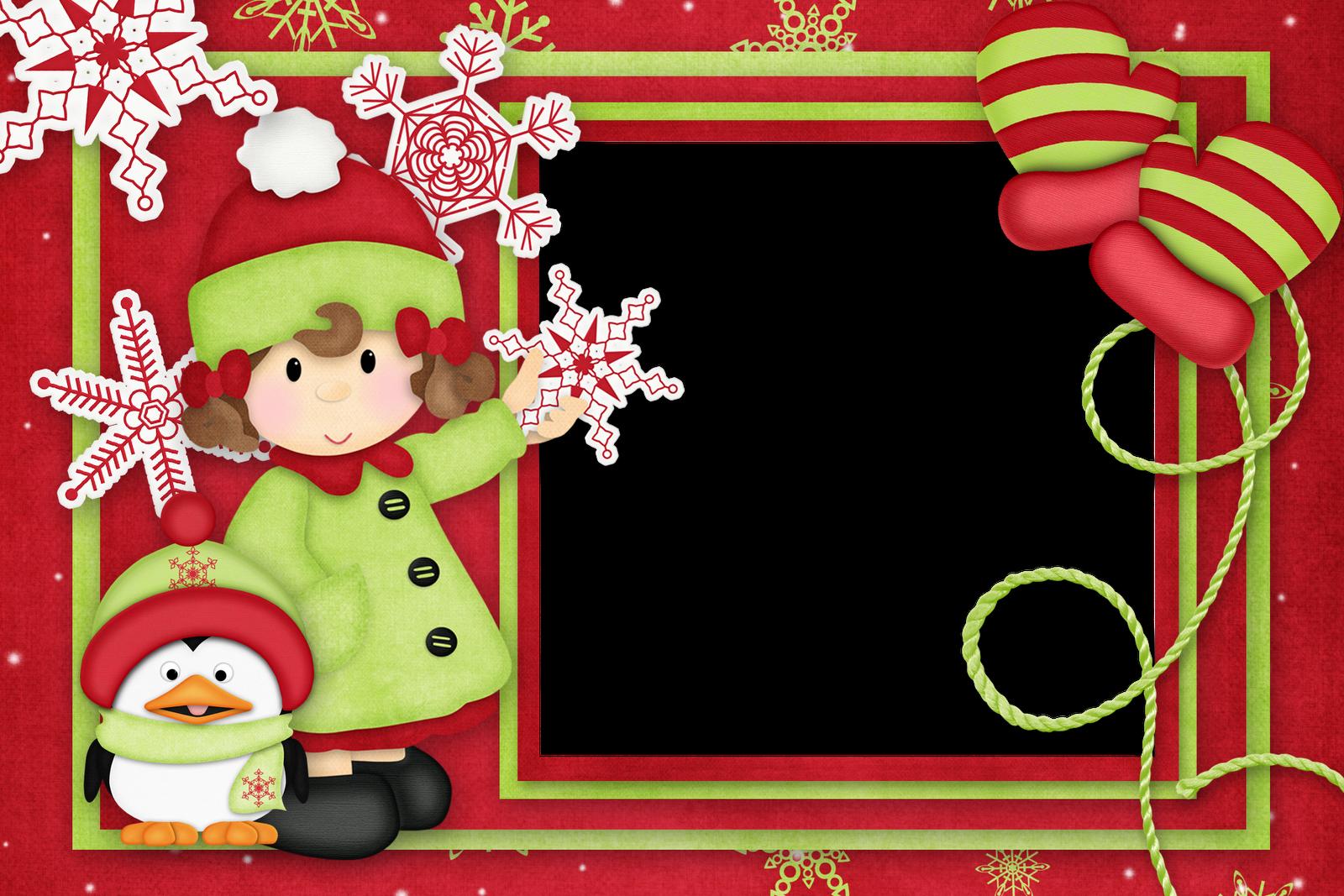 Marcos de navidad infantiles plantillas recursos y m s - Decorar postales de navidad ...