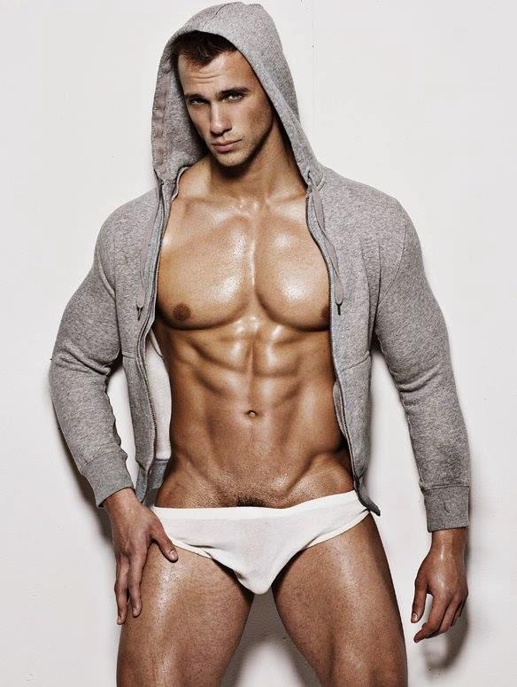 Muscular Man in Hoodie