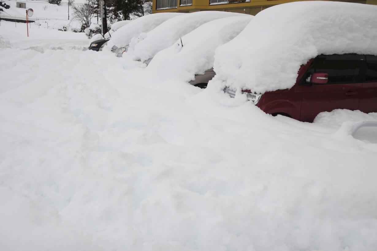 積雪73cm