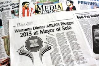 Asean Blogger Festival 2013 di Koran Media Kalimantan