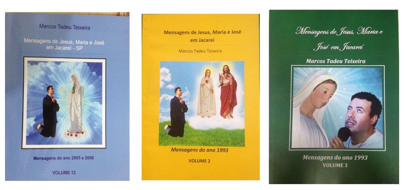 NOVOS LIVROS DAS MENSAGENS DE JESUS MARIA E JOSÉ NAS APARIÇÕES DE JACAREÍ-SP-BRASIL
