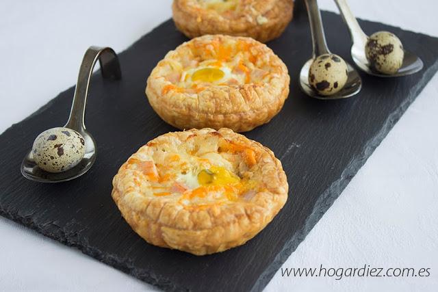 Tartaletas de atún y huevos