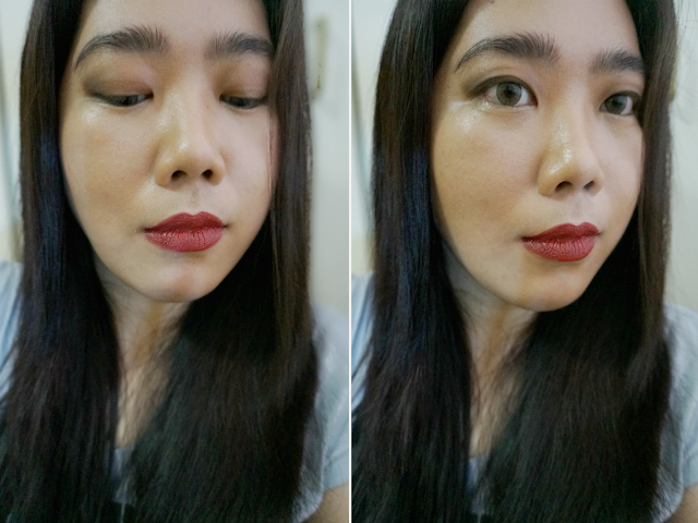 e.l.f. Studio Matte Lip Color in Cranberry Review