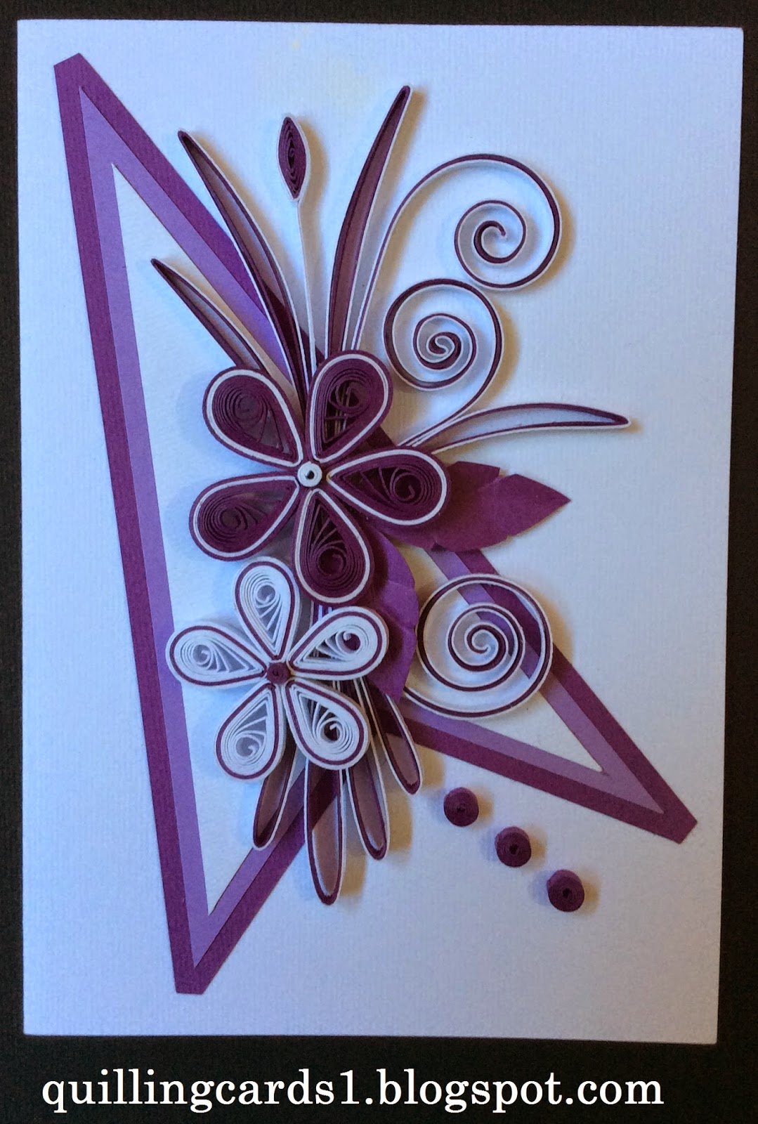 Quilling Cards Creation Quilling Flower Purple White