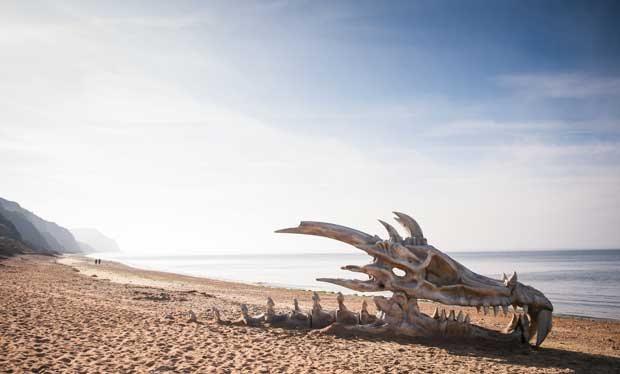 calavera de dragón juego de tronos blinkbox campaña publicitaria - Juego de Tronos en los siete reinos