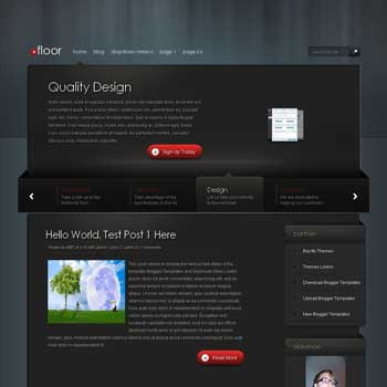 Floor Blogger Template. blogger template with horizontal featured content