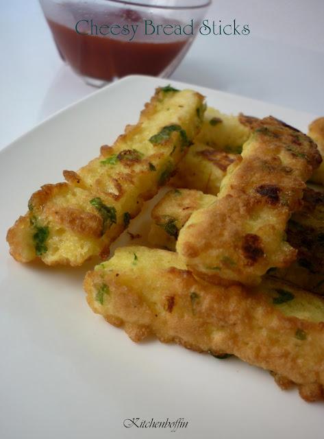 Kitchen Boffin: Cheesy Bread Sticks