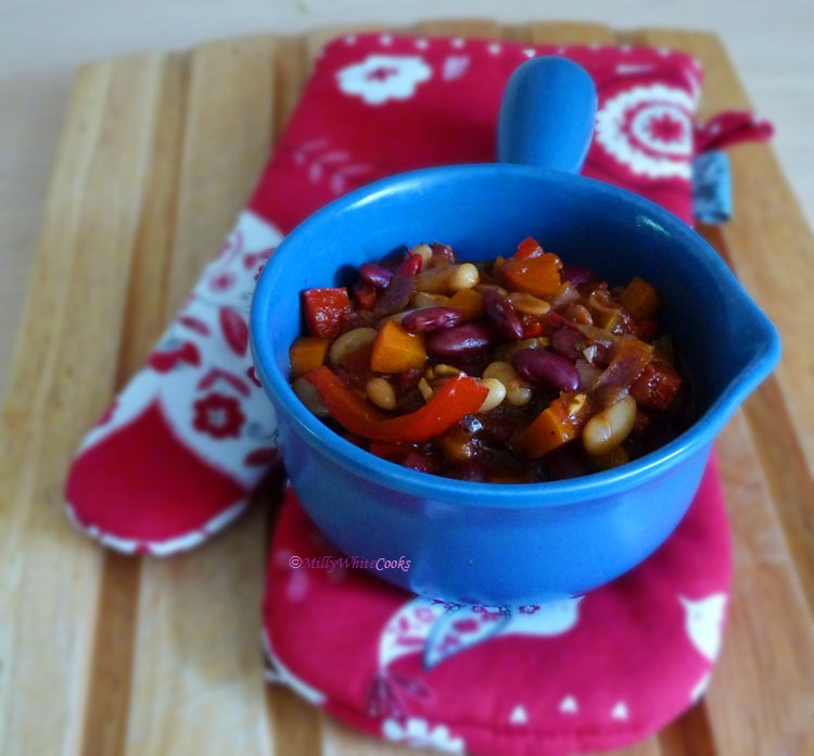 Pepper & Bean Chilli Pot on the Mediterranean Diet