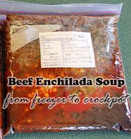 Freezer to Crockpot Beef Enchilada Soup: KidsCowsandGrass.com