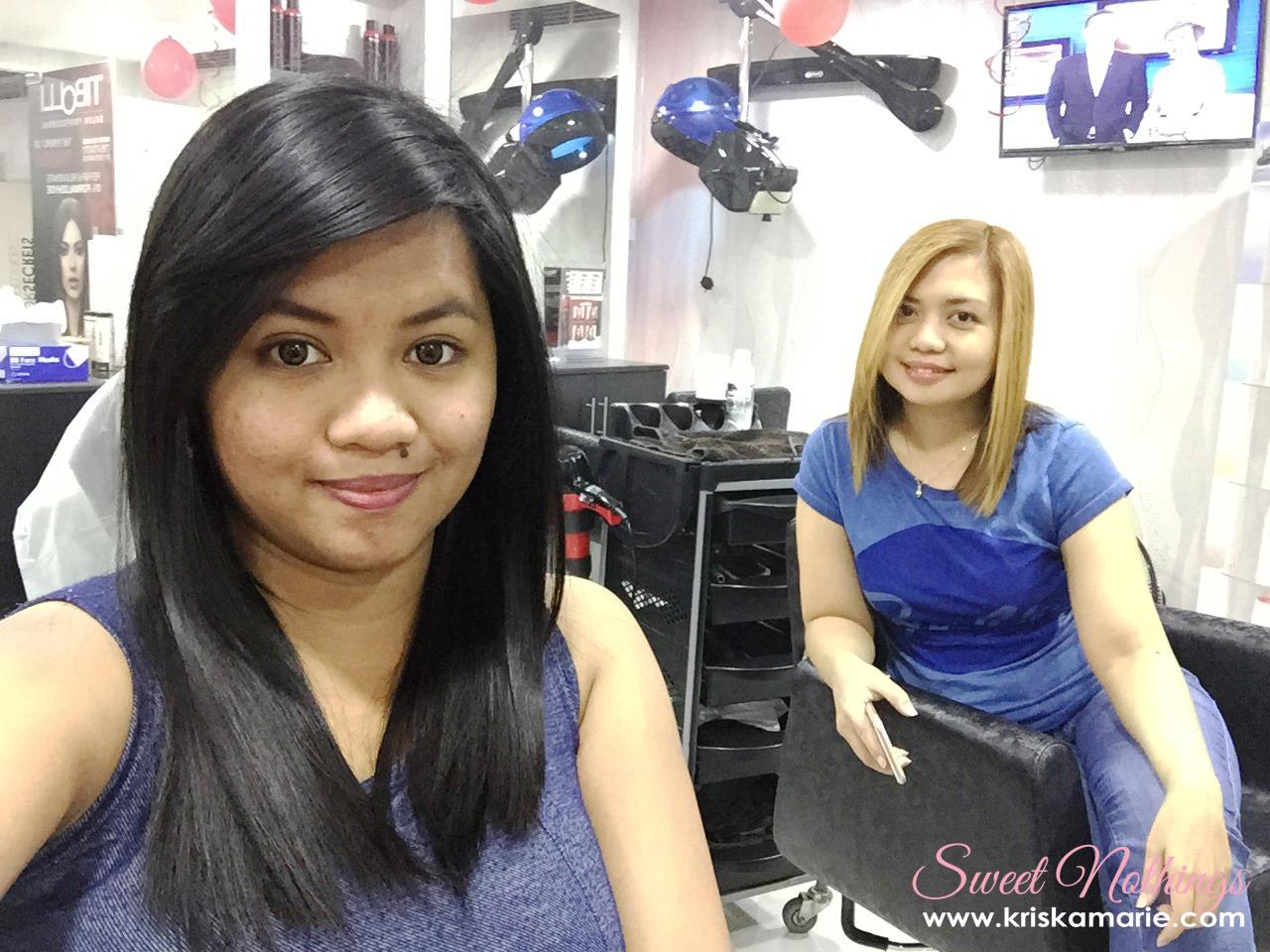 Hair keratin treatment at infinity beauty salon spa for Salon kerat in