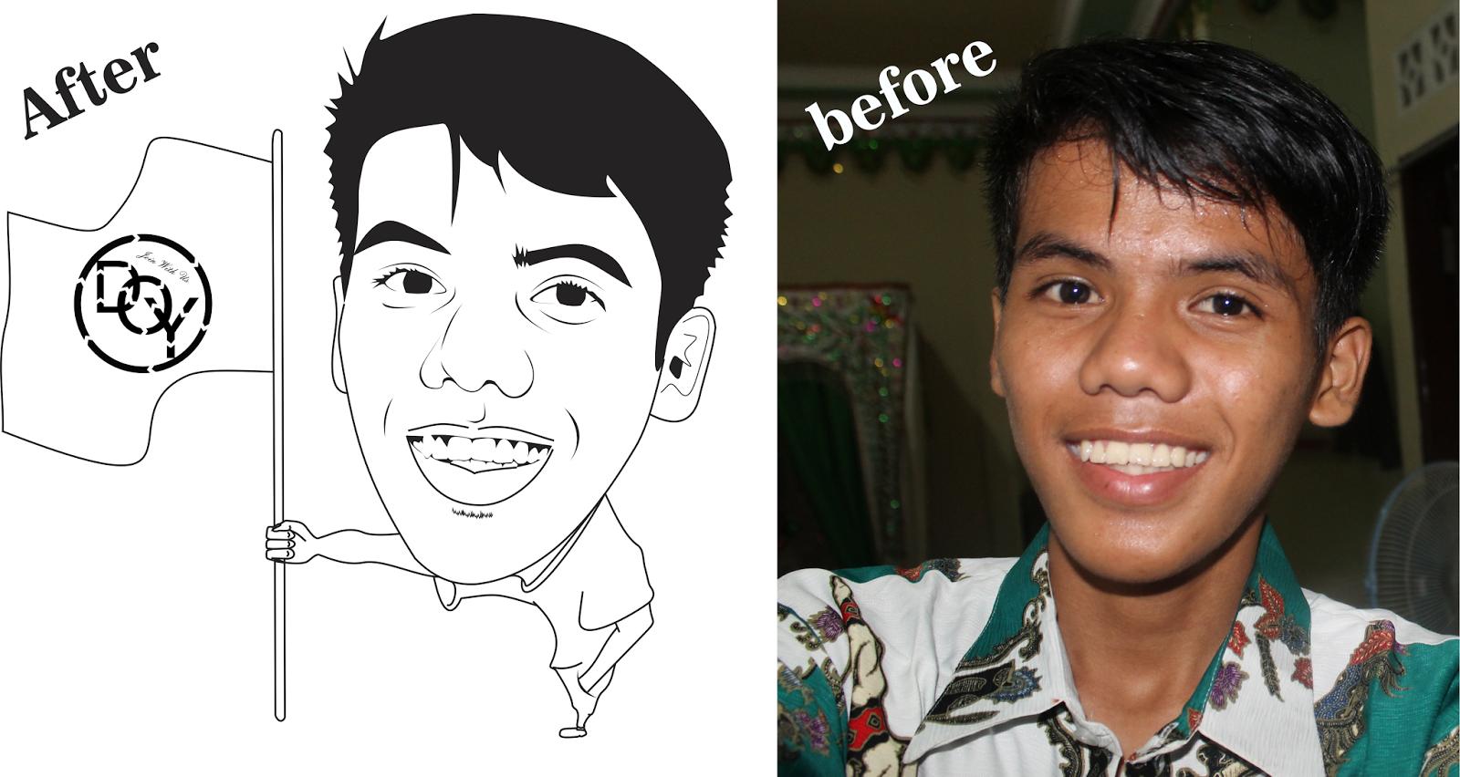Line Art Wajah : Ide remaja cara membuat vector line art menggunakan coreldraw