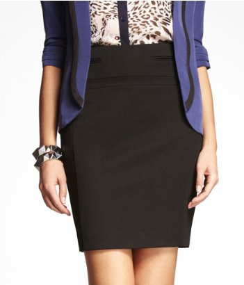 express studio stretch pencil skirt