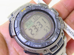 CASIO PROTREK PRG210T - TOUGH SOLAR - TRIPLE SENSOR COMPASS TEMPERATURE AND ALTIMETER - TITANIUM