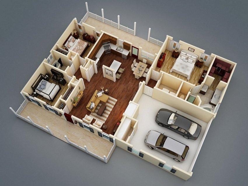 3D House Plans Concept 2