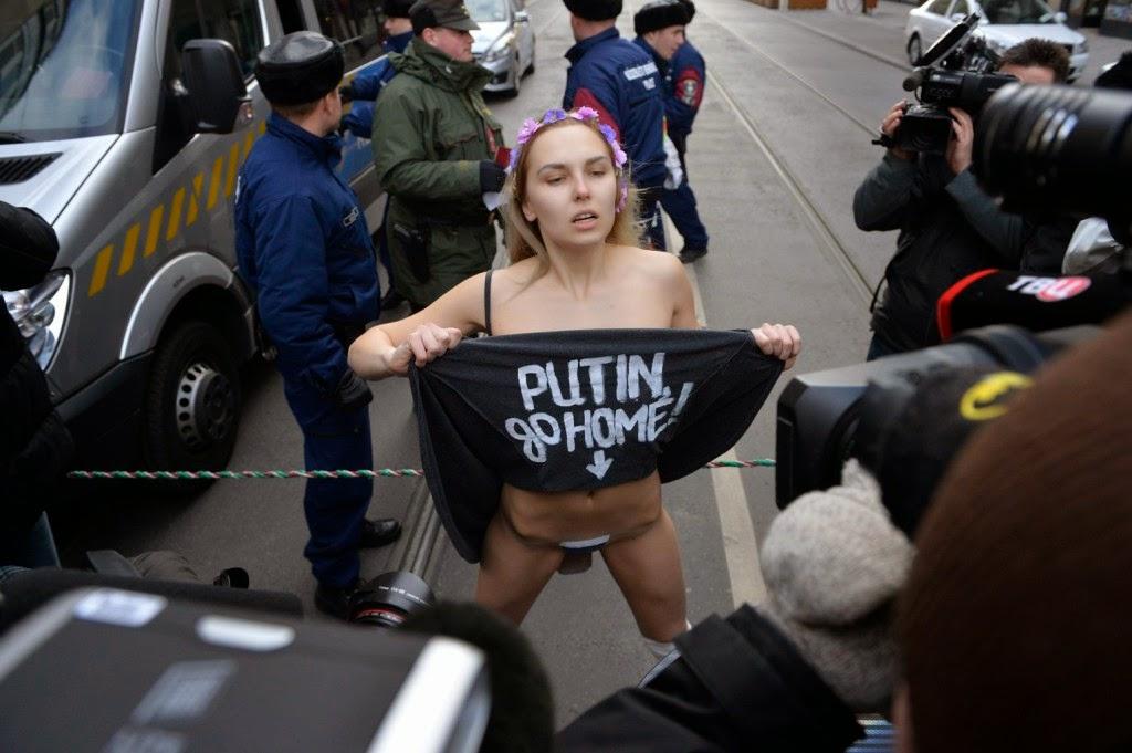 Vlagyimir Putyin, Putyin Budapesten, Orbán Viktor, Magyarország, Oroszország, Paks 2, atomenergia, Femen