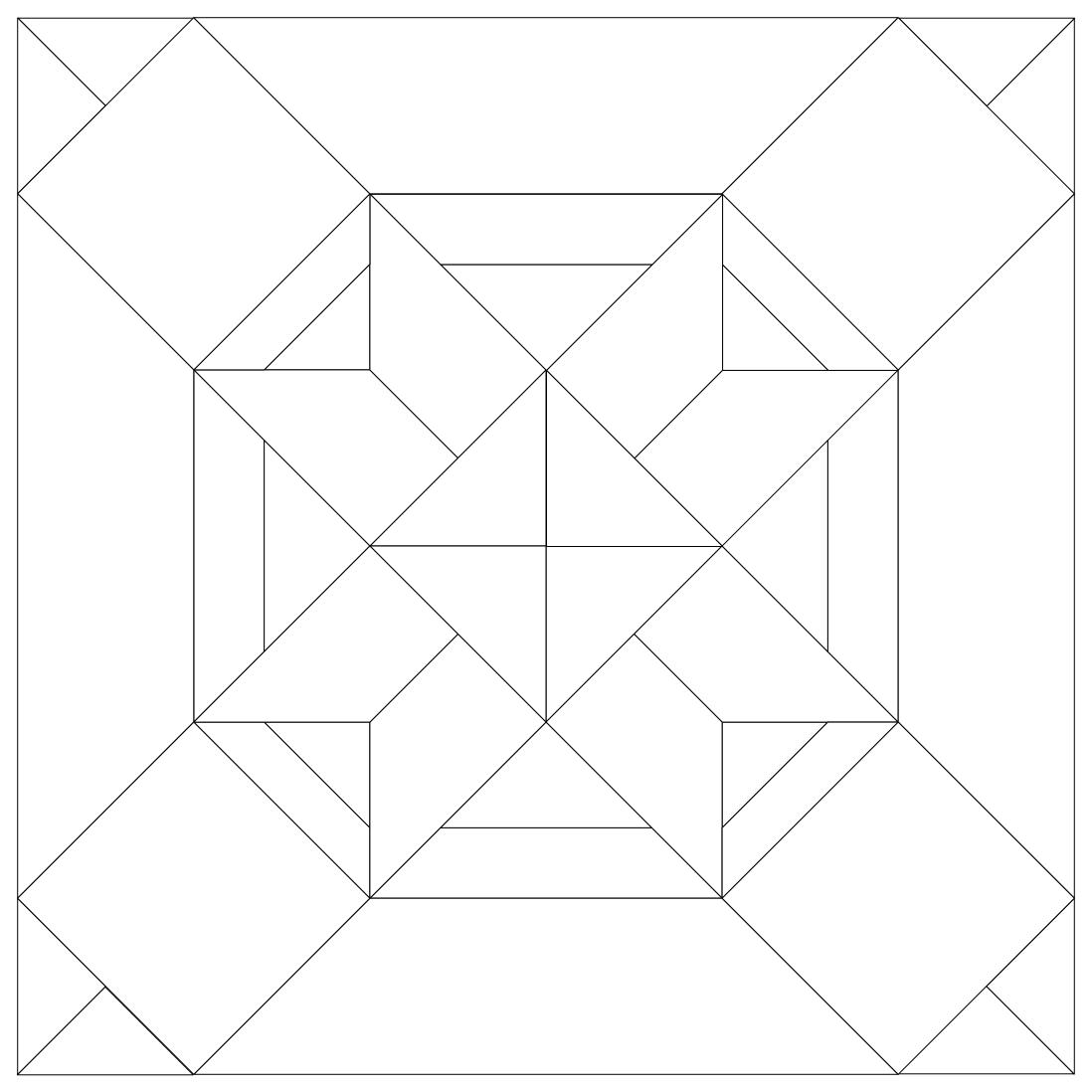 Imaginesque quilt block 34 pattern and templates for Quilting templates free