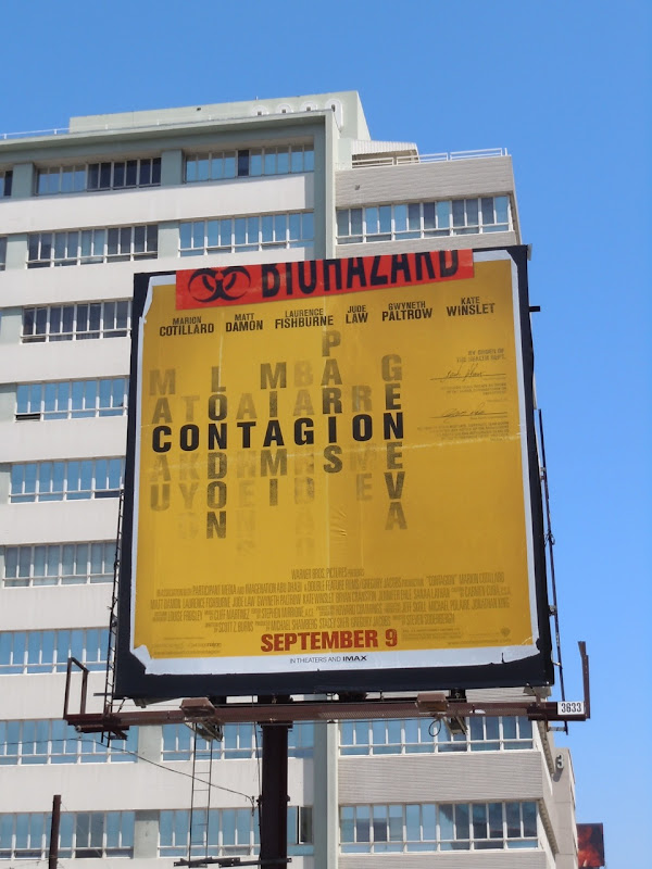 Contagion biohazard billboard
