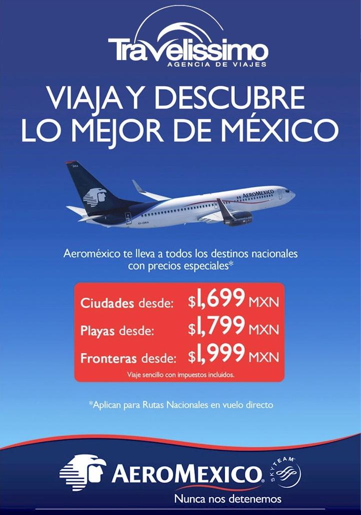 Aeromexico Destinos Nacionales Tarifa Especial Elitours