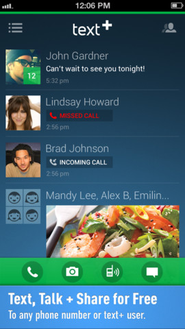 textPlus Free Text + Calls Utilities iphone applications