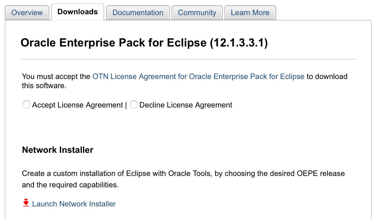 Steve button oracle faq this network installer lets developers select the version of eclipse to install and the set of oracle extensions weblogic glassfish and other stuff baditri Images