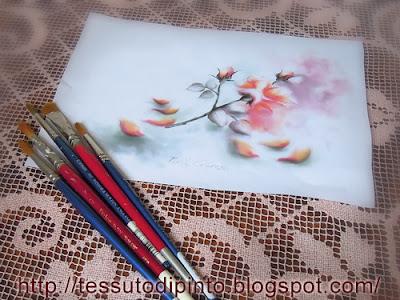 Rosa e boccioli dipinto su carta tecnica acquerello