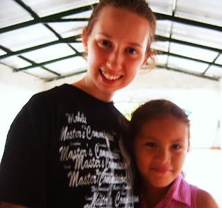 Luana Madden on mission trip in Honduras