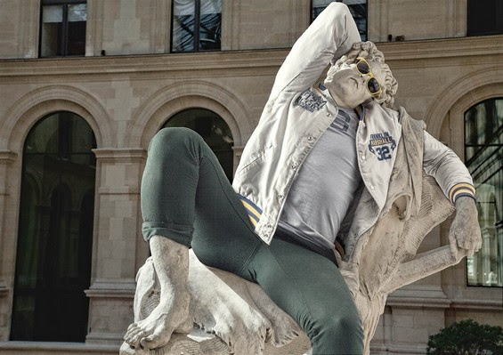 hipsters, sculptures wear hipsters clothing