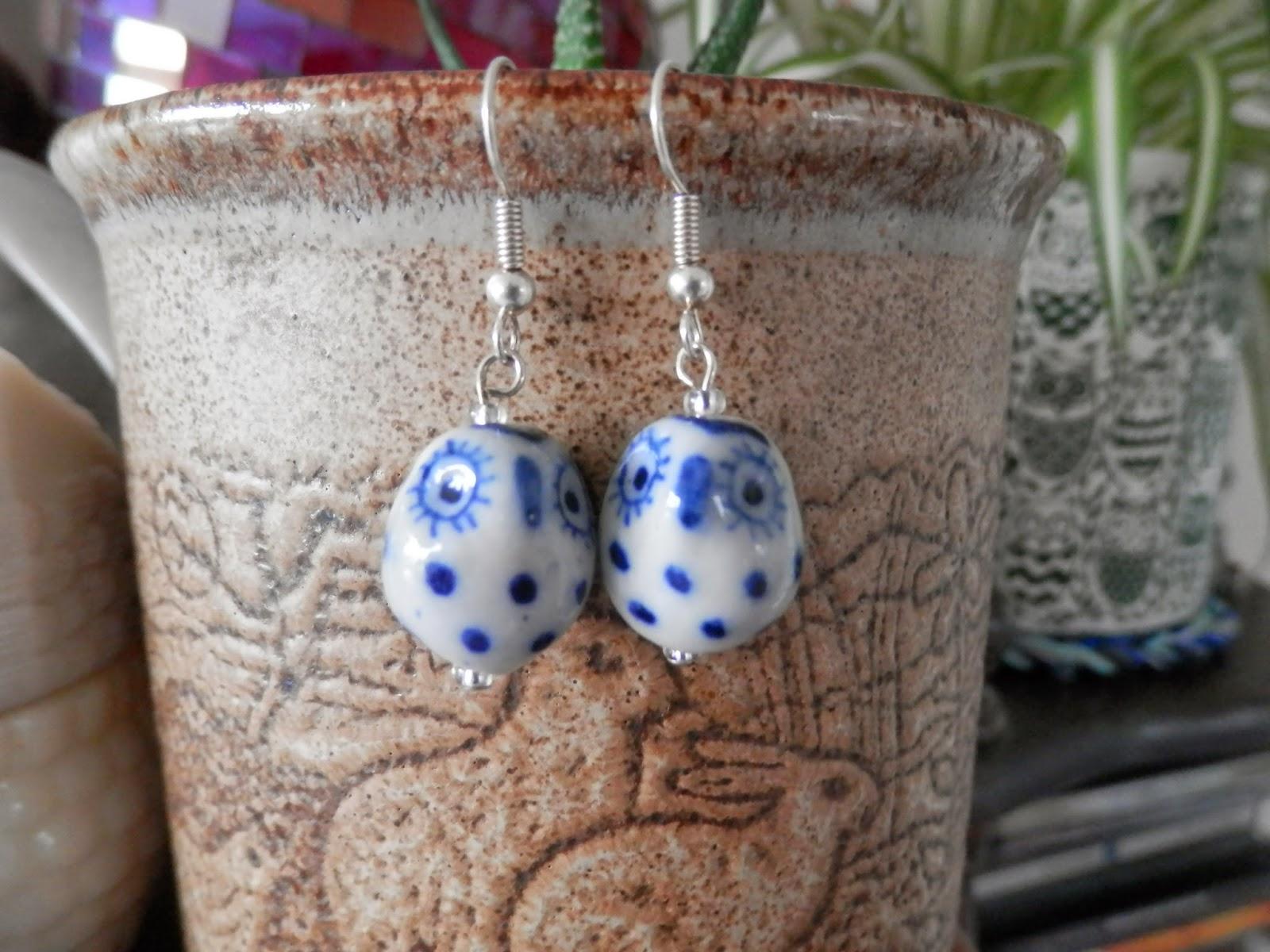 owl earrings secondhandsusie.blogspot.co.uk
