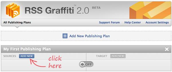 RSS Graffiti:Add New