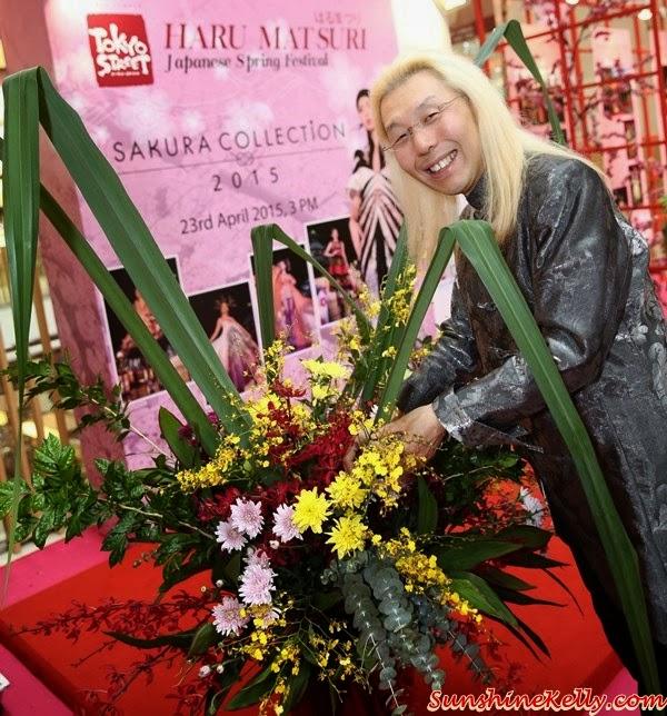 Sakura Collection Student Awards 2015, Tokyo Street, Pavilion KL, Sakura Collection, Shogo Kariyazaki San, conducting an Ikebana demonstration, Ikebana