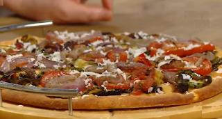 بيتزا بالخضر المشوية للسيدة حورية زنون