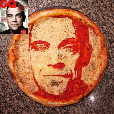 Робби Уильямс на итальянской пицце