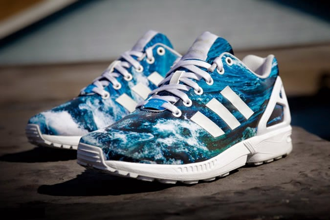 Adidas ZX Flux Slip On Grey On Feet