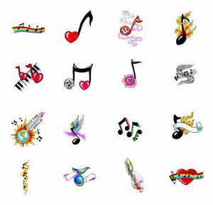 Music Notes Tattoos, Tattooing