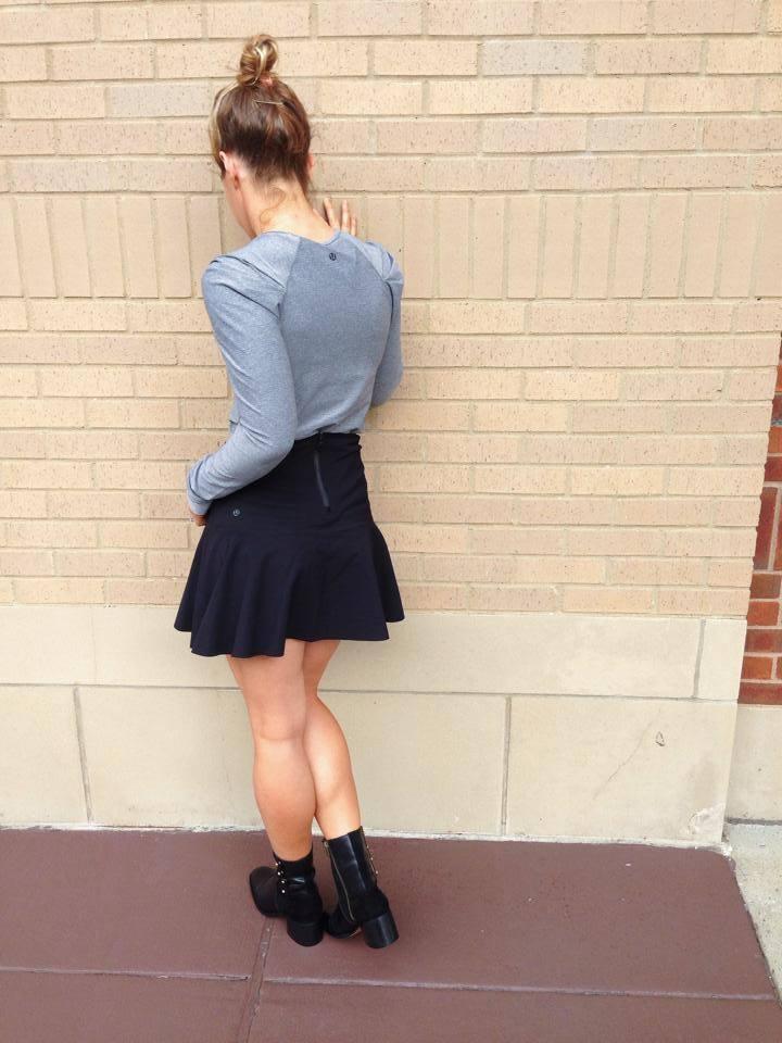 lululemon get it on skirt lab-city-tee