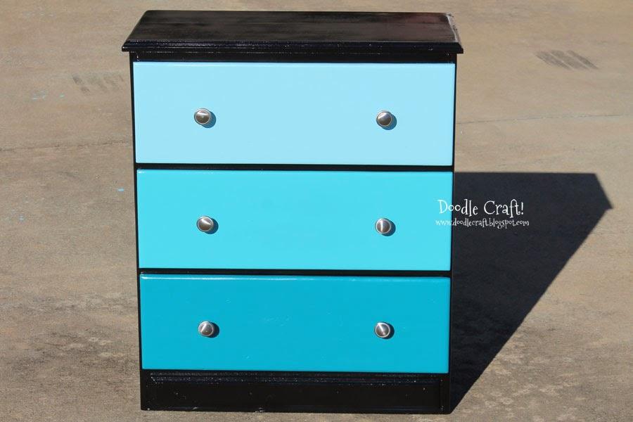 http://www.doodlecraftblog.com/2014/01/aqua-ombre-chest-of-drawers.html