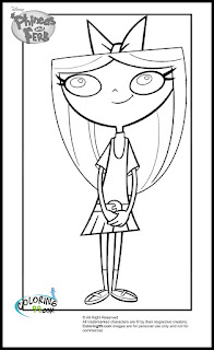 phineas and ferb isabella coloring pages