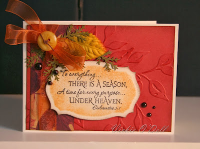 ODBD Scripture Collection 1, ODBD Customer Card of the Day Vickie O'Dell